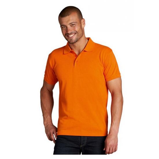 Poloshirts oranje grote maten