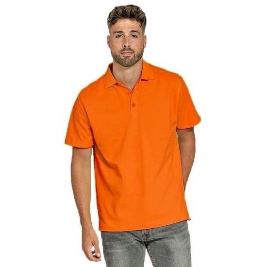 Poloshirt oranje voor heren