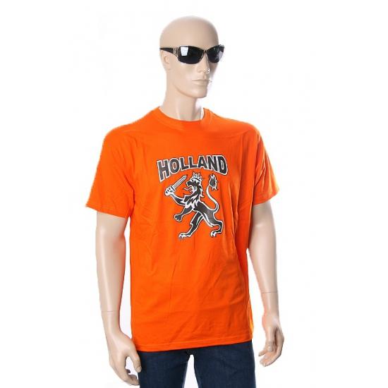 Nederland supporters t shirt zwarte leeuw
