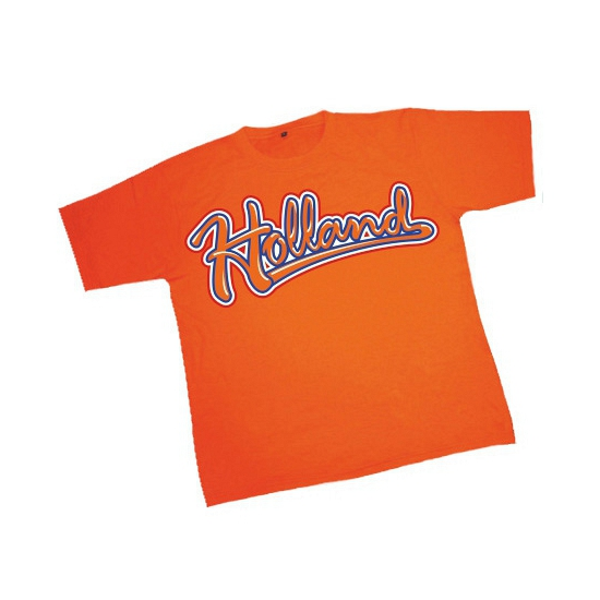 Heren baseball t-shirt oranje