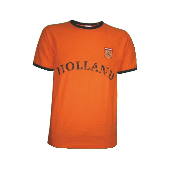Holland shirt oranje met de tekst holland