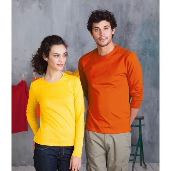 Oranje shirt met lange mouwen plus