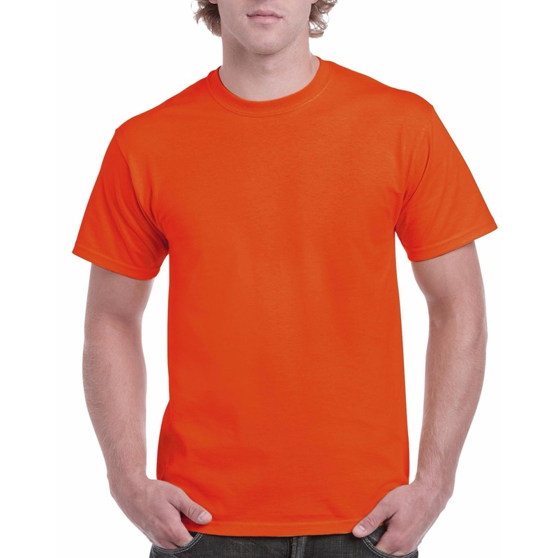 Voordelig oranje t shirt voor volwassenen