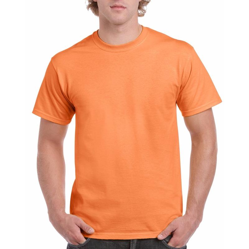 Voordelig licht oranje t shirt voor volwassenen