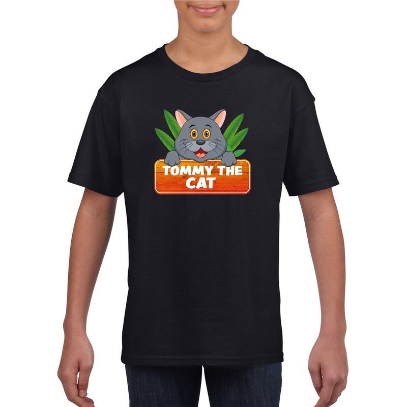 Katten dieren t shirt zwart voor kinderen 10106815