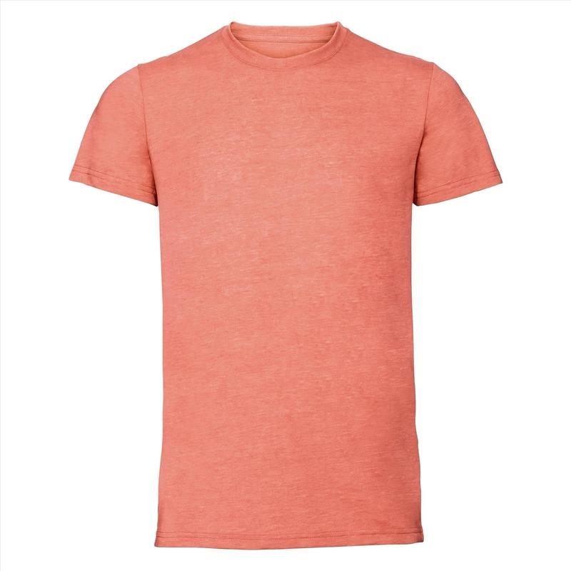 Koraal oranje heren t shirts met ronde