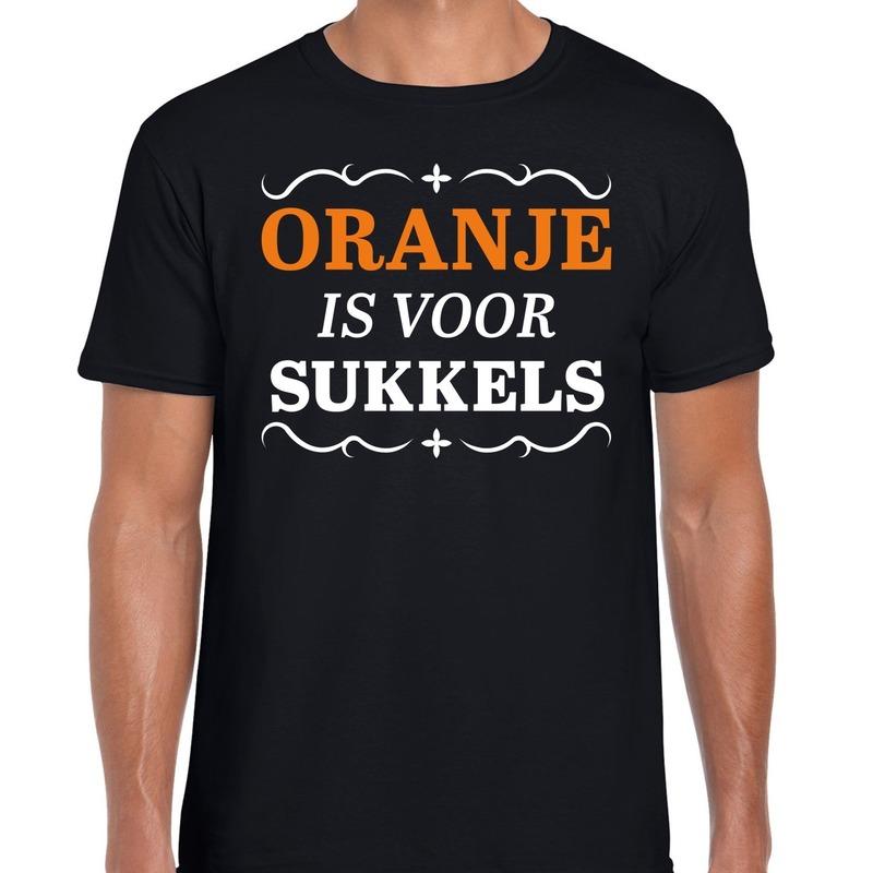 Oranje is voor sukkels shirt zwart heren