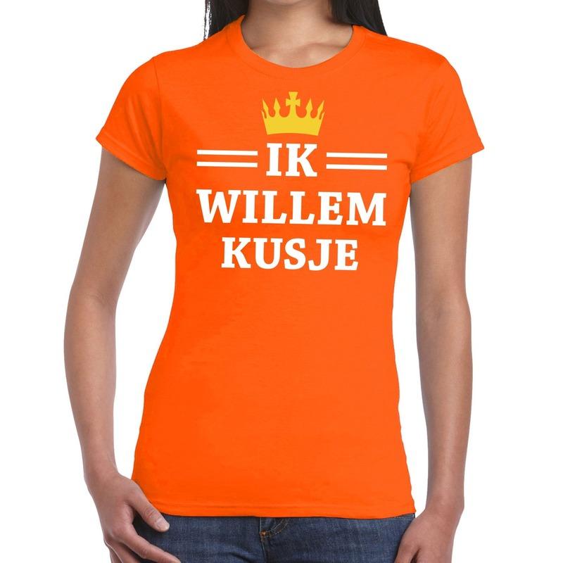 Ik willem kusje shirt oranje dames
