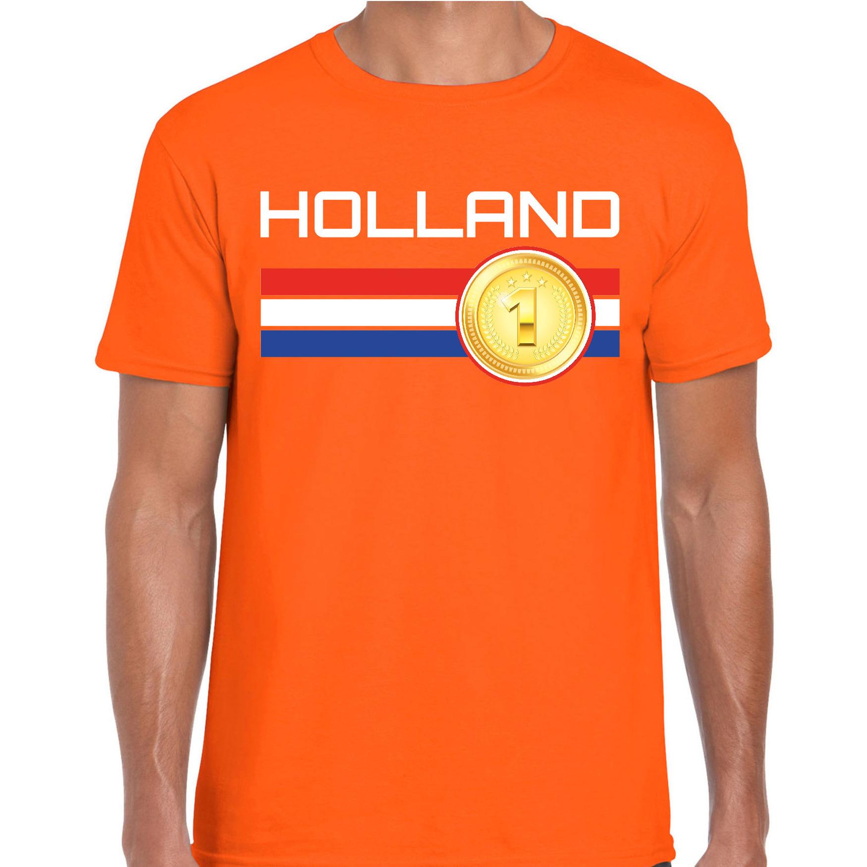Nederland landen shirt oranje voor heren