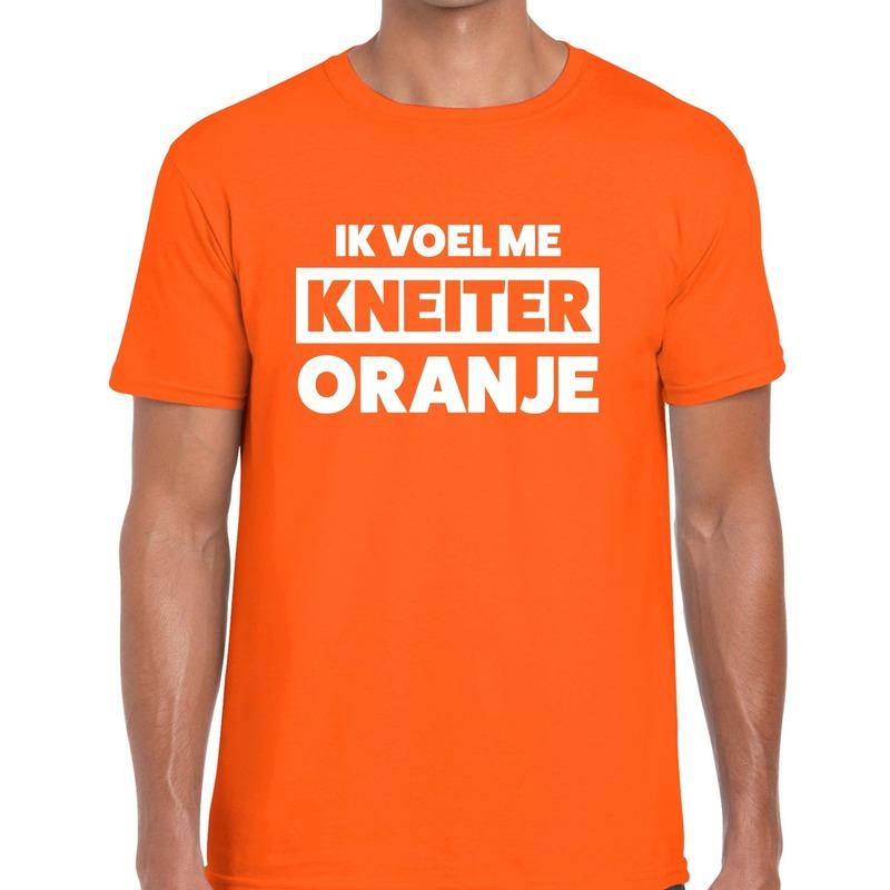 Koningsdag fun t-shirt ik voel me kneiter oranje heren