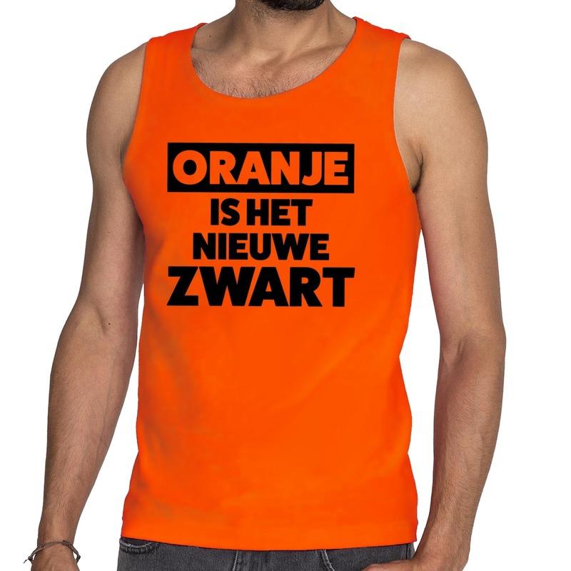 Koningsdag fun singlet oranje is het nieuwe zwart oranje heren