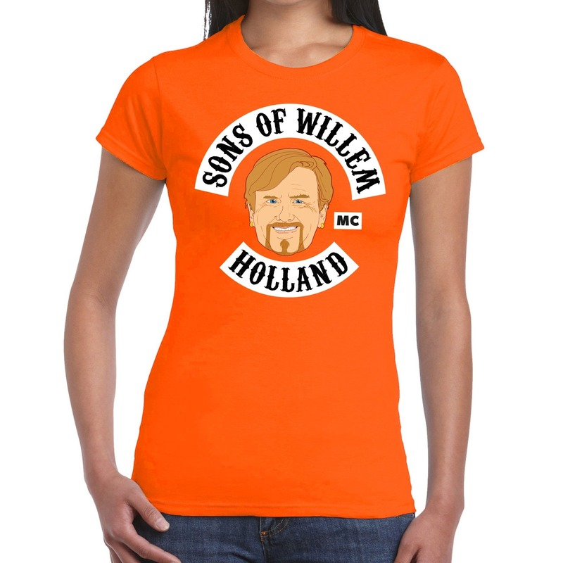 Sons of willem t-shirt oranje dames