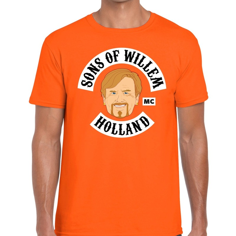 Sons of willem t shirt oranje heren